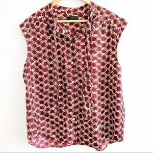 J. Crew top Sz 12 Sleeveless Button Down Blouse.